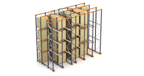 Vjazdové regály – akumulačný systém skladovania paliet