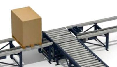 Prepravný valčekovo-reťazový modul