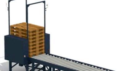 Ukladanie a spätná distribúcia prázdnych paliet na prepravnej linke